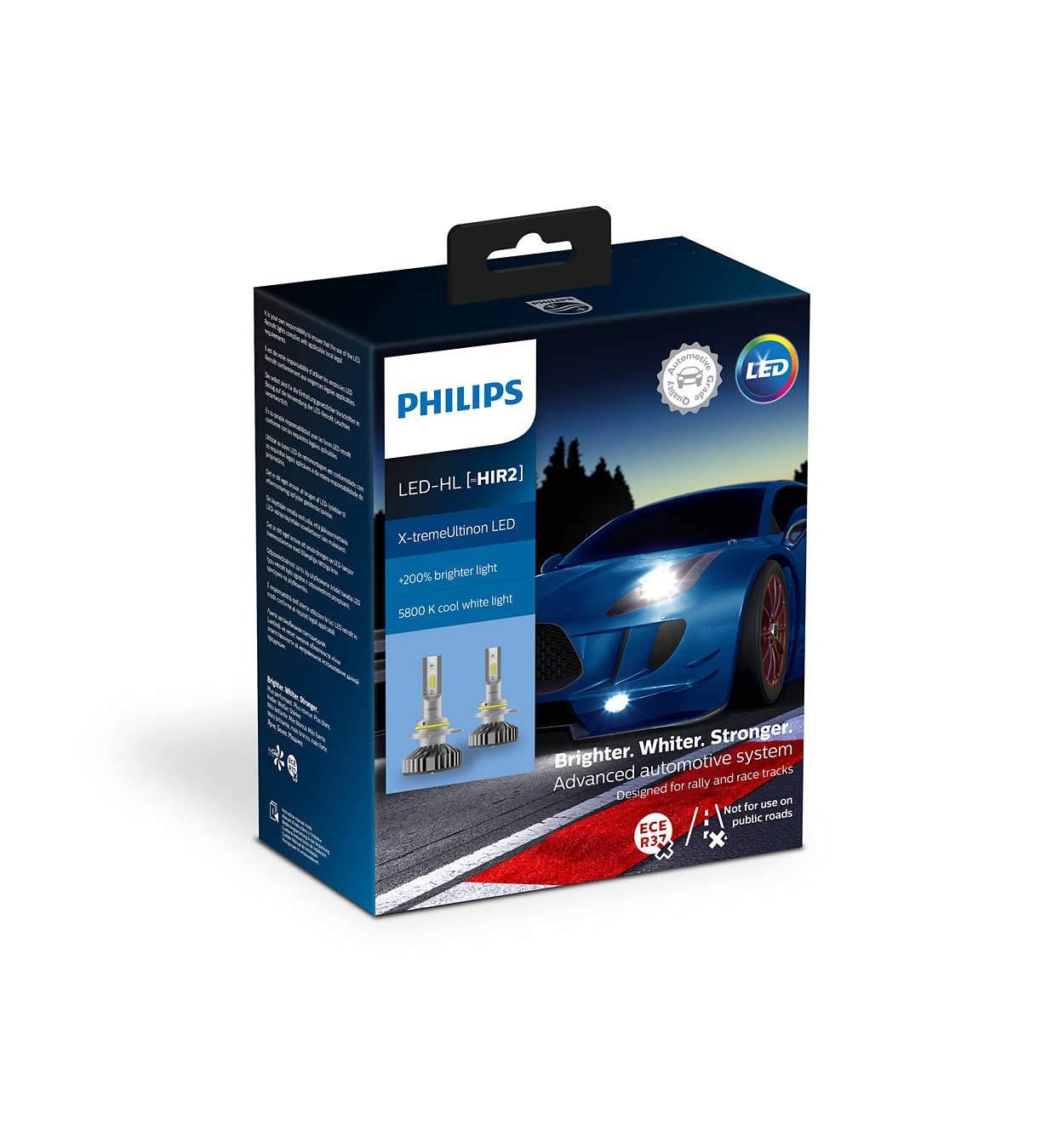 Philips 11012XUX2 X-tremeUltinon LED Faros Delanteros (HIR2 ...