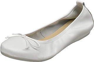 Euro Comfort Made in Europe Casual Fashion Women's Italian Slip On Ballerina Flat Shoes White - EU 38