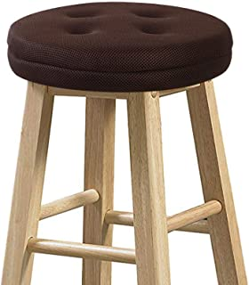 baibu Bar Stool Cushion, Super Breathable Round Bar Stool Cover Seat Cushion Brown 13