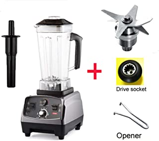 3Hp 2200W Heavy Duty Commercial Grade Automatic Timer Blender Mixer Juicer Fruit Food Processor Ice Smoothies Bpa Free 2L Jar,With Extra 3 Parts,Germany,Uk Plug