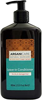 Arganicare Leave in Conditioner for Dry & Damaged Hair Enriched with Organic Argan Oil and Shea Butter (13.5 Fluid Ounce)