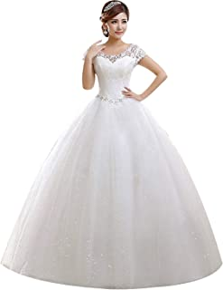 Eyekepper Double Shoulder Floor Length Bridal Gown Wedding Dress Custom Size 9d6b9174dc9c