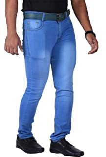 L,Zard Men's Slim Fit Jeans