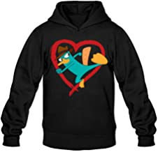 Cute Love Perry The Platypus Classic Men's Hooded Hoodies