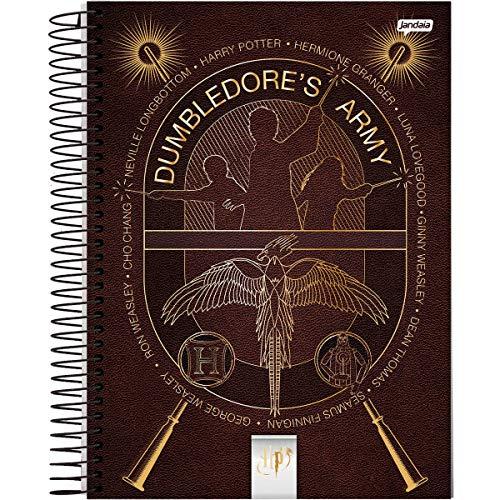 Caderno de 10 Matérias Capa Dura, Harry Potter, Jandaia, 63600, 27.5x24.5cm, 4 Unidades