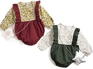 Simplee kids Baby Girl Romper Causal Jumpsuit Newborn Baby Outfit for Fall 0-3T