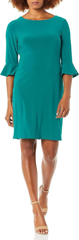 NINE WEST Women's Ranking TOP20 3 4 Ruffle Dress Sheath Solid Sleeve Super beauty product restock quality top!