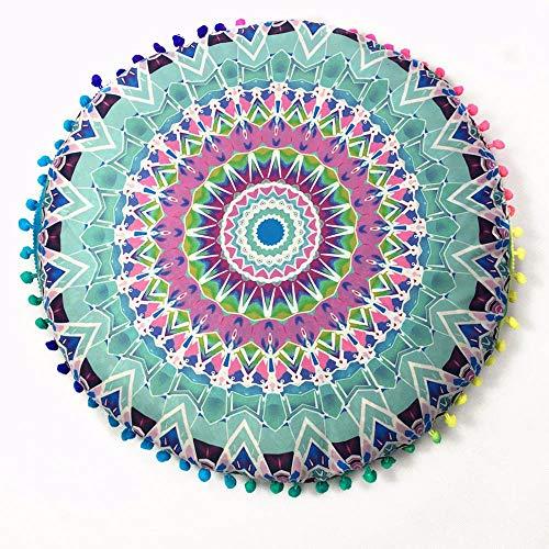 """YWLINK 1PC 43 * 43cm/(17.0 * 17.0"""") Decoracion Indian Mandala Floor Almohadas Cojines Bohemian Cojines Redondos Funda Regalo Sala De Estar del Dormitorio"""