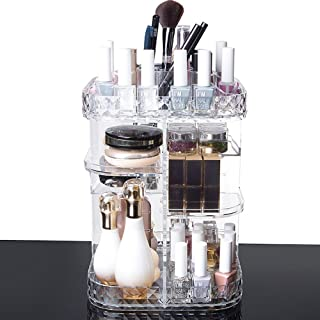 化粧品収納ボックス メイクケース メイクボックス 化粧品入れ コスメ収納スタンド (360度回転式)