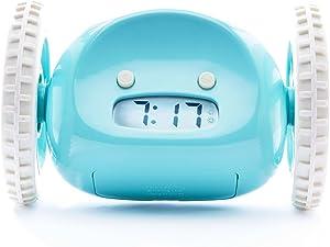 Nanda Home Clocky, la sveglia originale su ruote, colore Blu (Aqua)
