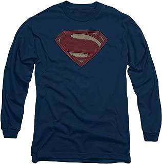 Trevco Batman v Superman Super Movie Logo Navy Unisex Adult Long-Sleeve T Shirt for Men and Women