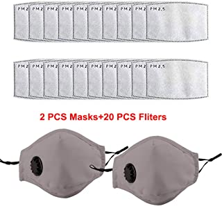 2pcs Reusable Dustproof Mask,Dust Mask PM2.5 Windproof Foggy Haze Pollution Respirator Mask