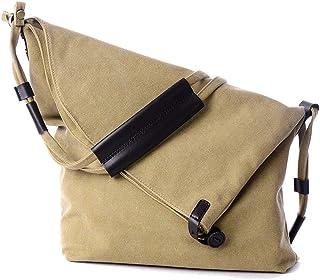 Shoulder Bag Unisex Hobo Casual Canvas Crossbody Messenger Bags Classic Shoulder Bag Handbag Clutch (Color : Khaki)
