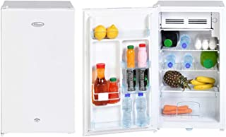 Super General 110 Liter Gross Volume Compact Mini-Refrigerator SGR-131-H, White, Beverage-Fridge with Child Lock, Shelf, F...