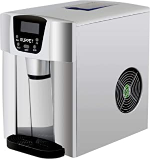KUPPET 2 in 1 Countertop Ice Maker Water Dispenser, Ready in 6min, Produces 36 lbs Ice in 24 Hours, LED Display