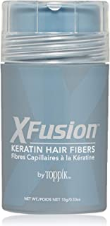 XFusion Regular Size Keratin Hair Fibers, Black, 15 grams/0.53 oz