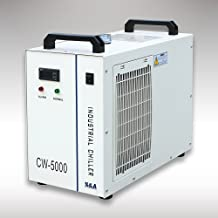 CW-5000DG Industrial Water Chiller for Single 80W/100W CO2 Laser Tube Cooling, 0.41HP, AC 1P 110V, 60Hz