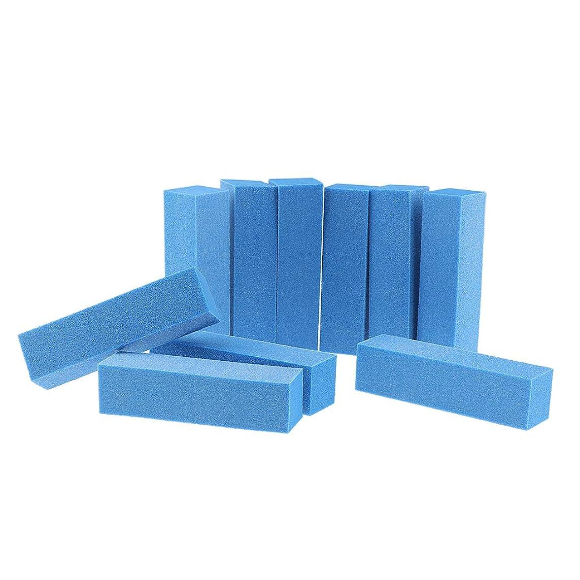 俳優真夜中パテ10PCSネイルアートケアバッファーバフ研磨サンディングブロックファイルグリットアクリルマニキュアツール-プロフェッショナルサロン使用または家庭用 - 青