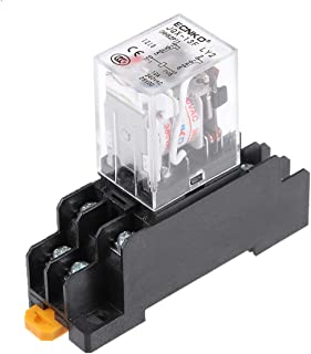 uxcell JQX-13F AC380V Coil DPDT 8Pins Red Light Electromagnetic Power Relay Scoket