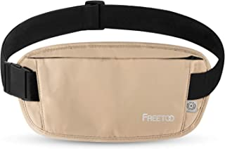 FREETOO セキュリティポーチ RFIDブロッキング素材 パスポートケース 肌触り良い パスポートバッグ 耐久性 調整可 海外旅行/出張/貴重品保管などに適応
