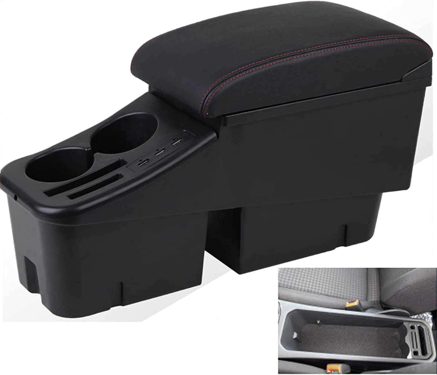 Ranking TOP7 Genuine Import Leather Car Center Console Bora for Storage Armrest Box