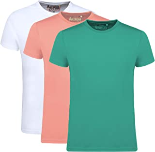 AMERICAN CREW Men's Sports Gym Dry Feel T-Shirts Pack of 3