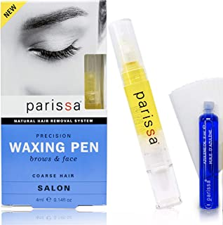 Eyebrow Waxing Pen (4ml), Parissa Salon Style Wax Hair removal waxing Kit for Eyebrows With after care Azulene oil