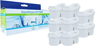 AquaHouse Compatible Filtre avec Cartouches Brita Maxtra pour Carafe Filtrante - Pack de 8