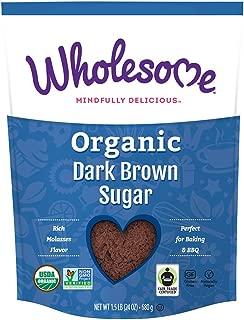 Wholesome Organic Dark Brown Sugar, Fair Trade, Non GMO & Gluten Free, 1.5 Pound (Pack of 6)