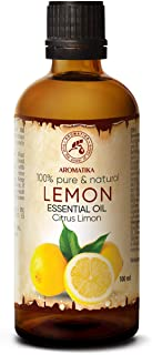 Huile Essentielle de Citron - 100 ml - Citrus Limon - pour Diffuseur - Aromathérapie - Pure et Naturelle - Citron - Anti F...