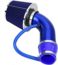 Cold Air Intake Pipe, 76mm 3 Inch Universal Performance Car Cold Air Intake Turbo Filter Aluminum Automotive Air filter Induction Flow Hose Pipe Kit (Blue)