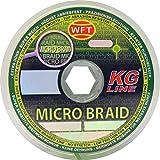 WFT Micro Braid KG Chartreuse 150m - Geflochtene Angelschnur, Durchmesser/Tragkraft:0.04mm / 3kg