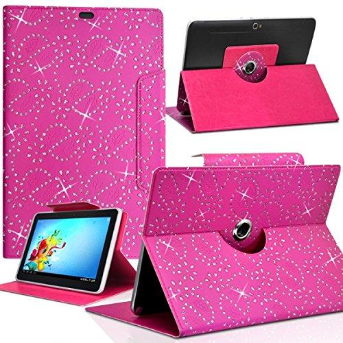 Karylax - Funda de protección universal para tablet Logicom L-ixir TA701 de 7', diseño de diamante, color rosa