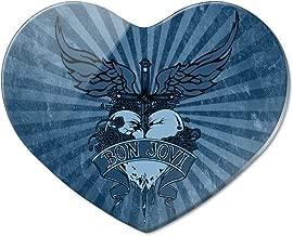Bon Jovi Heart and Dagger Heart Acrylic Fridge Refrigerator Magnet