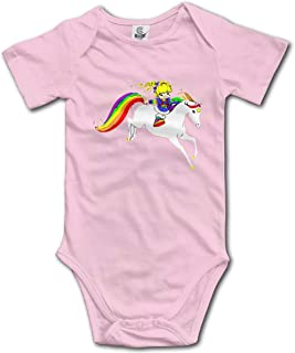 Rainbow Brite Short Sleeve Playsuit Bodysuit Outfits Clothes Baby Onesies Black