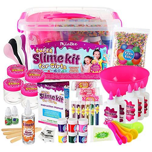 DilaBee DIY Slime Making Kit for Girls - {48 Piece} Super Jumbo Starter Set