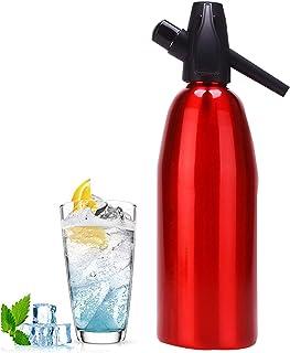 DYJD Fabricant de Siphon de soude Faisant de l'eau pétillante, Bouteille de seltzer portative de 1L Le Meilleur carbonateu...