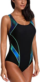 CharmLeaks Women's Sport Pro One Piece Swimsuit Athletic Racerback Swimwear