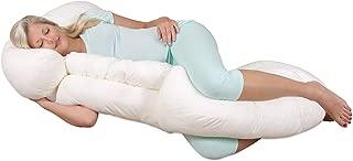 Leachco Grow To Sleep Self-Adjusting Pregnancy/Maternity Body Pillow, Ivory