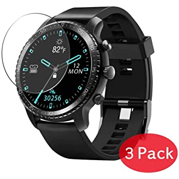 Synvy Screen Protector for Timex TW2P62100 Chrono Oversized TPU Flexible HD Clear Film Protective Protectors 3 Pack Not Tempered Glass