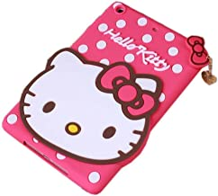 iPad Mini Case,Phenix-Color 3D Cute Soft Silicone [Drop Proof,Shock Proof,Anti Slip] Despicable Me 2 Hello Kitty Cartoon Gel Rubber Back Cover Case for iPad Mini 1 2 3 (Hello Kitty Hot Pink)
