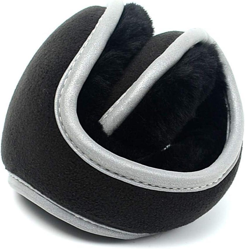 ZYXLN-Earmuffs,Reflective Earmuffs Men's Earmuffs Earmuffs Keep Warm Safety Bike Earmuffs Protective Body Equipment Foldable Ear Warmers Winter Ear Muffs (Color : Black)