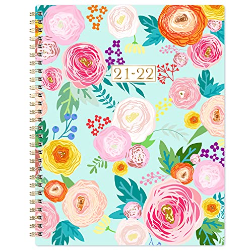 """2021-2022 Planner - Weekly & Monthly Planner 2021-2022 with Twin-wire Binding, Jul 2021 - Jun 2021, 8"""" x 10"""", Flexible Floral Hardcover with Thick Paper, Perfect for Home, School and Office Organizing"""