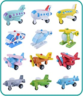 12 Pieces / Set of Simulated Wooden car Truck Model Children's Educational Toys Birthday Gift,Preschool Kid Education -Boy Girl Baby Toddler - Learning Kit - Educational Idea Three Four Five Year Old