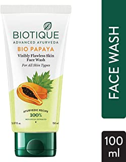 Biotique Bio Papaya Visibly Flawless Skin Face Wash For All Skin Types, 150ml