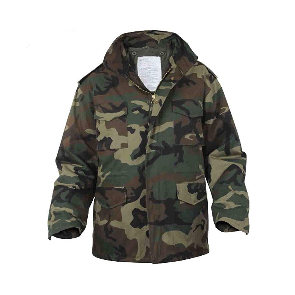 BlackC Sport Field Jacket M-65 Camo Military Coat with Liner