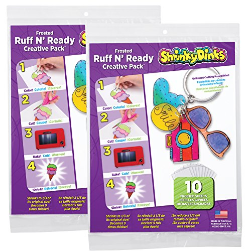 Shrinky Dinks Creative Pack 20 Sheets Frosted Ruff n' Ready