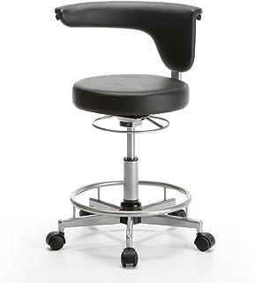 サンワダイレクト 丸椅子 キャスター付き 背もたれ 回転 パソコンチェア キッチン椅子 コンパクト ブラック 100-SNC019BK