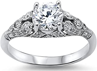 Best antique style cubic zirconia engagement rings Reviews