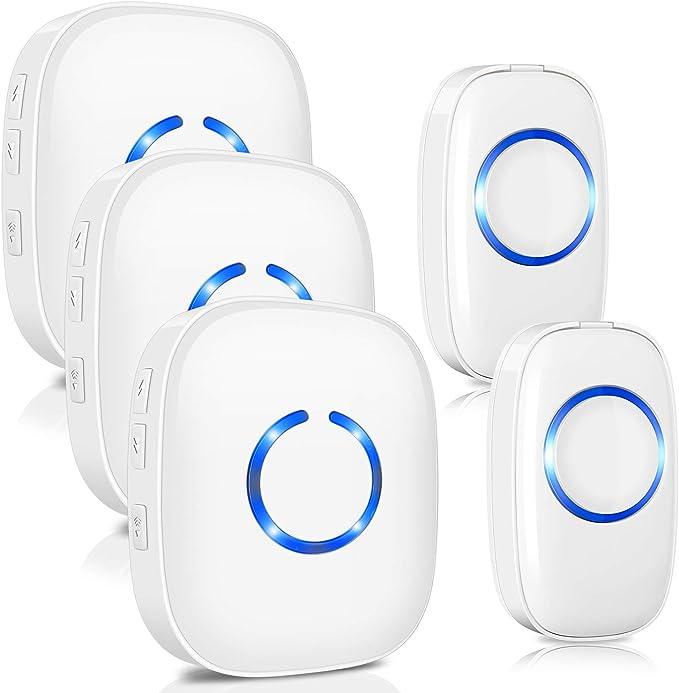 483 opinioni per Campanello senza fili, impermeabile ELEPOWSTAR IP55 Wireless Doorbell, con